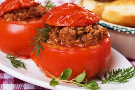 Tomates cœur de bœuf farcies